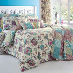 Home, Furniture & Diy Bedding Flower Design Bedspread Comforter Quilted Throw Fits Double Bed Size 195 X 229cm Delicious In Taste