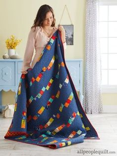Use scraps of any color in a simple-to-piece quilt.
