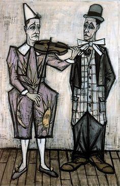 Le cirque: Deux Clowns, 1955, Bernard Buffet