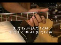 ▶ Guitar Lesson: How To Play Old School 12 Bar Blues EASY Prt 2 Beginners Moving Chords Up The Neck - YouTube