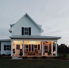 porch + farmhouse + light deck