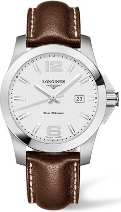@longineswatches Conquest Mens #add-content #bezel-fixed #bracelet-strap-leather #brand-longines #case-material-steel #case-width-41mm #date-yes #delivery-timescale-1-2-weeks #dial-colour-whie #gender-mens #luxury #movement-quartz-battery #new-product-yes #official-stockist-for-longines-watches #packaging-longines-watch-packaging #style-dress #subcat-conquest #supplier-model-no-l3-759-4-76-5 #warranty-longines-official-2-year-guarantee #water-resistant-300m