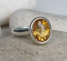 Mesmerizing Citrine Ring November Birthstone Ring Topaz by Belesas