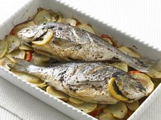This Spanish dish also works well with other whole fish, such as snapper or trout.