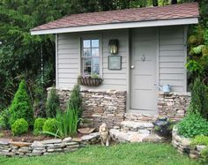 Our old playhouse - turned potting shed (Carolina Country)