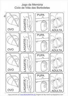 Atividade Cantiga Popular A Borboleta e a Lagarta Percepção Visual Numero e Quantidade