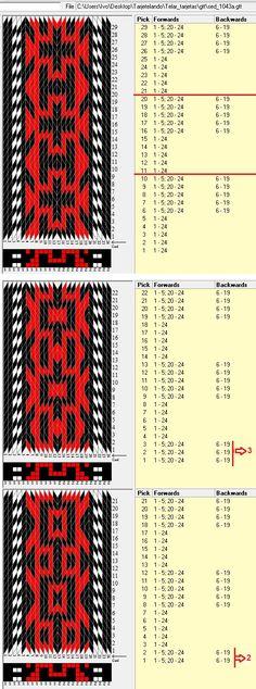 24 tarjetas, 3 colores, diferentes comienzos de secuencias // sed_1043a diseñado en GTT༺❁