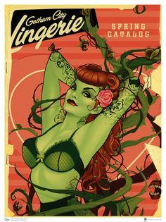 Poison Ivy DC Comics Bombshell Art Prints