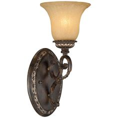 "San Marino Bronze and Gold 14 1/2"" High Wall Sconce - #U5799 