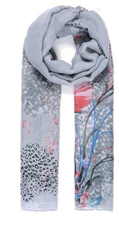 Vintage Grey Red Black Floral  Print Pashmina Scarf Wrap SS17 Styles  #Intrigue #Scarf