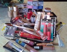 55 pc makeup lot - L'Oreal, Maybelline, CoverGirl, Rimmel, Milani & More - New! #Maybelline