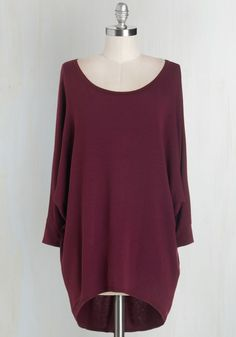 Sports Rapport Top in Burgundy. Watching the match with mates is oh-so fun thanks in part to the relaxed fit and super-soft fabric of this burgundy top! #red #modcloth