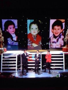Il Volo baby pictures! Buon Natale PBS Special taped March 27, 2013 Miami , FL