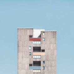 Fotografie bloków z wielkiej płyty, które zachwyciłyby Wesa Andersona