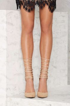 Nasty Gal Strap-Minded Lace-Up Heel - Nude | Shop Shoes at Nasty Gal!