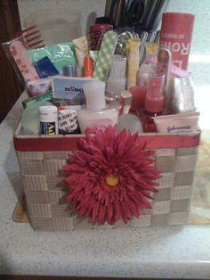 Bathroom Basket for the Ladie's Room at a Wedding Nail files. Bathroom Basket Wedding, Bathroom Baskets, Wedding Baskets, Diy Wedding Reception, Wedding Pins, Our Wedding, Wedding Activities, Bridal Gifts, Purple Wedding