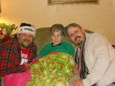 Me, grandma, and David