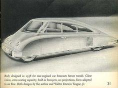 Teague Streamliner, design from 1938