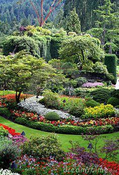 Jardines Hermosos De Butchart, Isla De Vancouver, Cana Foto de archivo libre de regalías - Imagen: 10917165