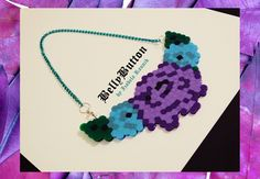 A handmade necklace made of hama beads :) You can see more on my facebook page: Belly Button by Izabela Raunik :D ***SPRING 2015***