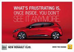 "Renault: ""Frustration"" Print Ad by Publicis Conseil, Paris, Elysian Fields, Wanda Productions"