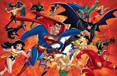Justice League - Greatest cartoon line that started from DC cartoon artist and director Bruce Timm with his first production of Batman: The Animated Series Batman Wonder Woman, Cartoon Network, Justice League Unlimited, Superhero Shows, Superhero Movies, Bruce Timm, Superman, Dc Animated Series, Best Dc Comics