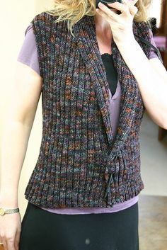 looks like a super easy knit vest pattern.  good for an interesting yarn, like handspun or noro.