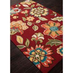Rich Flower Pattern Area Rug #officedecor #homedecor | National Business Furniture