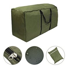 Outdoor Patio Furniture Seat Cushion Storage Bag Waterproof Lightweight Carry Case---9.25---