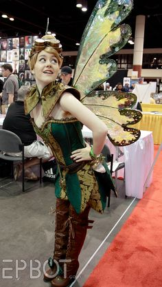 Steampunk Tinkerbell Cosplay Fabricator: Firefly Path Cosplayer/Model: Madeline Masquerade