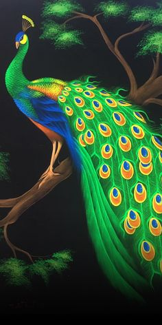 Buy original animal paintings for sale from Thailand. Available from Horse art, Elephant painting, Koi fish painting, Peacock painting, Dragon art and more. Peacock Painting, Peacock Art, Paintings For Sale, Animal Paintings, Peacock Wall Decor, Monday Images, Peacock Images, Fashion Illustration Dresses, Thai Art