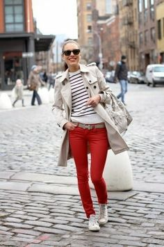 Red jeans/pants addiction...