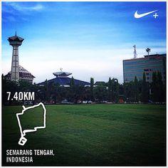 #nikeplus #run #running #myrun #morningrun #goodmorning #lari #laripagi #selamatpagi #marilari #semarang #simpanglima #masjid #alunalun #lapangan #pagi #indonesia #instarunner #instanusantara #city #downtown #field