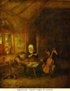 Adriaen van Ostade. Village Musicians. 1655. Oil on panel, 39 x 30.5 cm. The Hermitage, St. Petersburg, Russia.