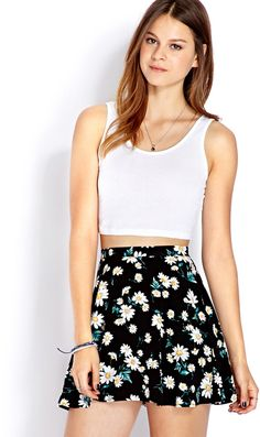 $7, Forever 21 Must Have Knit Crop Top. Sold by Forever 21. Click for more info: https://lookastic.com/women/shop_items/23838/redirect