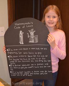 Hammurabi's Code of Laws Craft - http://susanevans.org/blog/hammurabis-code-laws-craft/