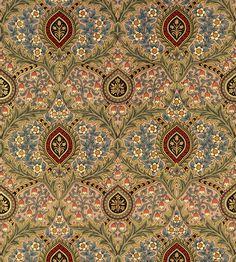 William Morris design, Knightsbridge Damask wallpaper in Jasper, Bradbury Bradbury -- Gorgeous!