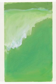Mary Heilmann, Green Wave, Surfer's Dream, 2008, oil on canvas, 14 7/8 x 9 inches