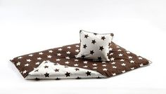 Bedding from danish SmallStuff, stars/brown and white