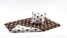 Bedding from danish SmallStuff, stars/brown and white