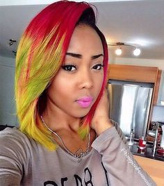 55 Swaggy Bob Hairstyles for Black Women - My New Hairstyles 55 Swaggy Bob Hairstyles for Black Wome Sew In Weave Hairstyles, Hairstyles With Bangs, Relaxed Hairstyles, Amazing Hairstyles, Afro Hair Woman, Curly Hair Styles, Natural Hair Styles, Hair Plugs, Ombre Bob