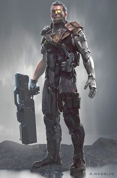 Deadpool 2 : Another early concept for Cable character, Aaron McBride Marvel Comics Art, Marvel Vs, Marvel Heroes, Marvel Comic Character, Marvel Characters, Marvel Concept Art, Cable Marvel, Arte Nerd, Gato Anime