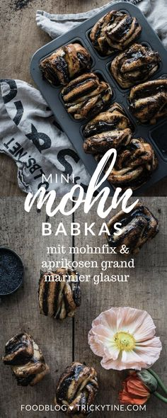 mini mohn babkas mit selbstgemachten mohnfix & aprikosen grand marnier glasur ♥ trickytine.com
