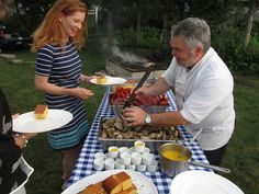 Lobster bake every Monday night in July 2014 served along the beautiful Kennebunk River at Stripers Waterside Restaurant. Local Seafood, Seafood Dishes, Lobster Bake, Kennebunkport Maine, Monday Night, Beautiful Sunset, New England, Restaurant, River