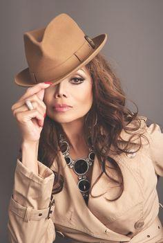 LaToya Jackson Janet Jackson, Michael Jackson, Paris Jackson, Jackson Family, The Jacksons, Ageless Beauty, Cute Hats, Hats For Women, Plus Size Women