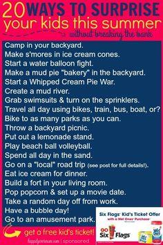 FUN ways to surprise your kids this summer! #WishIHadaWetOnes #ad