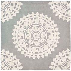 Handmade Soho Chrono Grey/ Ivory New Zealand Wool Rug (8' Square)