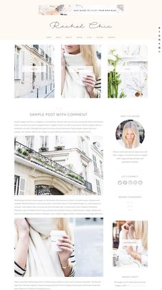 Rachel is a chic and modern feminine WordPress theme for women. The premium theme from Bluchic has a beautiful and versatile design that could be used for any sort of website – a fashion blog, fitn…
