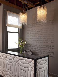 Love the lighting and definitions on the wall.