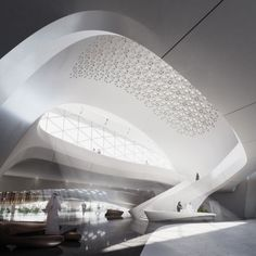 ザハ設計の宇宙船のような建物がUAEに現る 6
